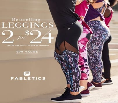 2 Pairs Of Leggings For $24 When You Become New VIP Member