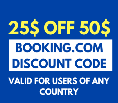 25$ OFF on 50+$ reservations on Booking.com. Only 1 time per account. Can use new email for new account.