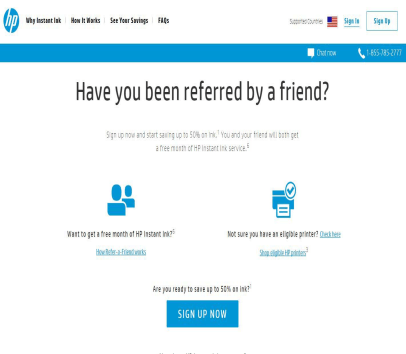 FREE 1 Month of HP Instant ink on signing up using my referral link