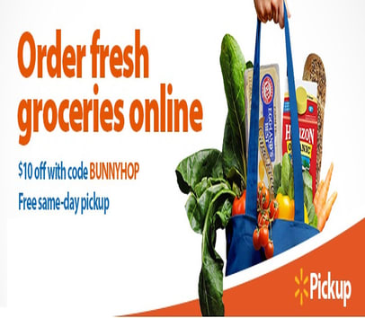 Get $10.00 off your grocery shopping cart at Walmart