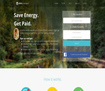 Save Energy and get paid. Refer friends and get $20