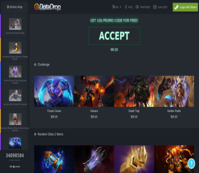 Get 10 $ for using to open Dota 2 Cases