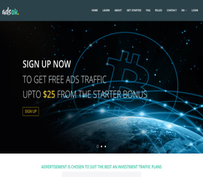 Adsok Referral Program Earn Bitcoin Free 25 Sign Up Bunos 0 01 -