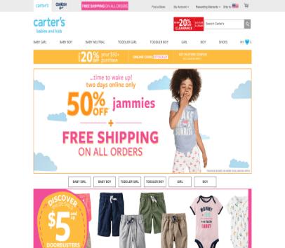 Get $15 off Carter's
