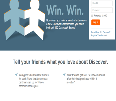 Get a $50 Cash when you get your discover credit card