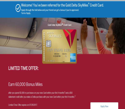 Delta Amex Login >> American Express Gold Delta SkyMiles Refer a Friend ...