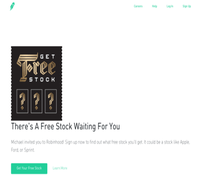 Robinhood Free stock when you use my link
