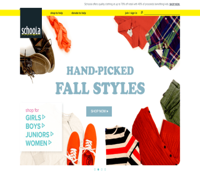 Get $10 credit to Schoola for clothes!