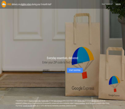 10$ off Google Express order and 3 months free shipping