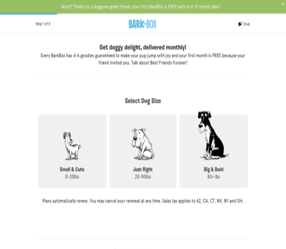 First Barkbox Free with my referral link