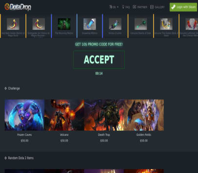Get 10$ to open DotA 2 cases if using this link