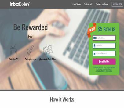 $5 sign up bonus at InBoxDollars!