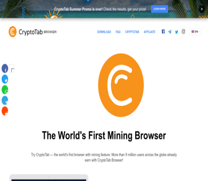 Min bitcoin free while you browse the web. Get different level of referrals