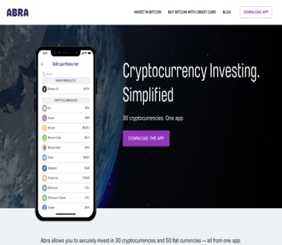ABRA Crypto App---$25 in bitcoin with min $5 deposit