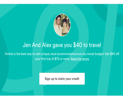 Get $40 Off First Airbnb Trip
