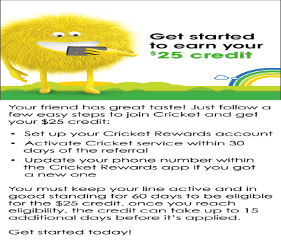 Cricket Wireless Refer A Friend Program Get A 25 For
