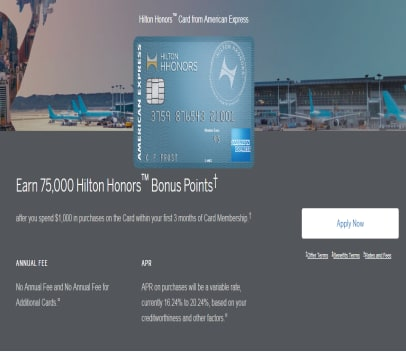 Get 75,000 Hilton Honors Bonus Points!