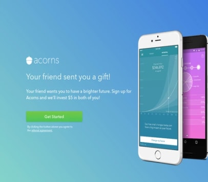 Get $5 cash bonus when you sign up to Acorns!