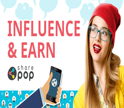 sharepop - Signup from my referral and get $10