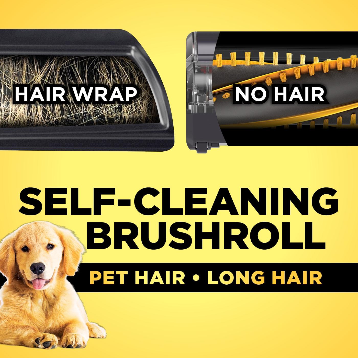 Self-cleaning brushroll