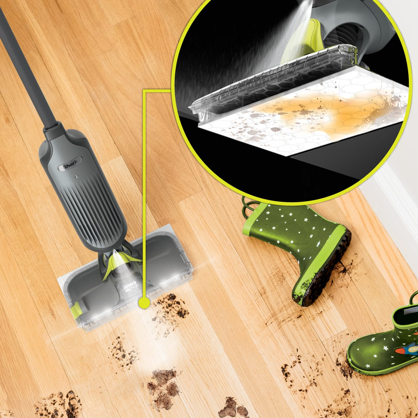 Spray mops for finished floors