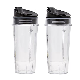 Twin Pack 470ml Cups with Sip & Seal Lids product photo Side New M