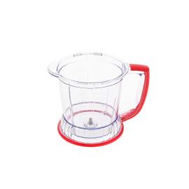 1.1L Food Prep Bowl - Red for QB800/QB1000 product photo Side New M