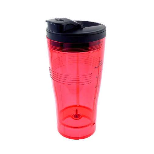 Image of 600ml Cup with Spout Lid (Red) - PS100