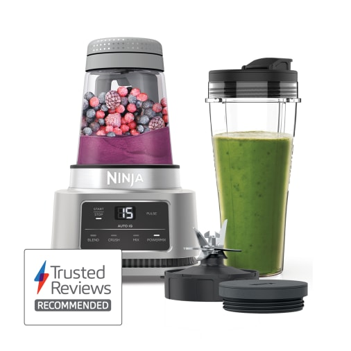Image of Ninja Foodi Power Nutri Blender 2-in-1 with Smart Torque & Auto-iQ 1100W - CB100UK