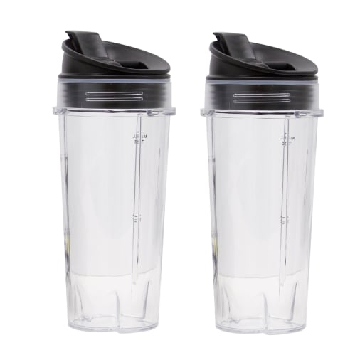 Image of Twin Pack 470ml Cups with Sip & Seal Lids