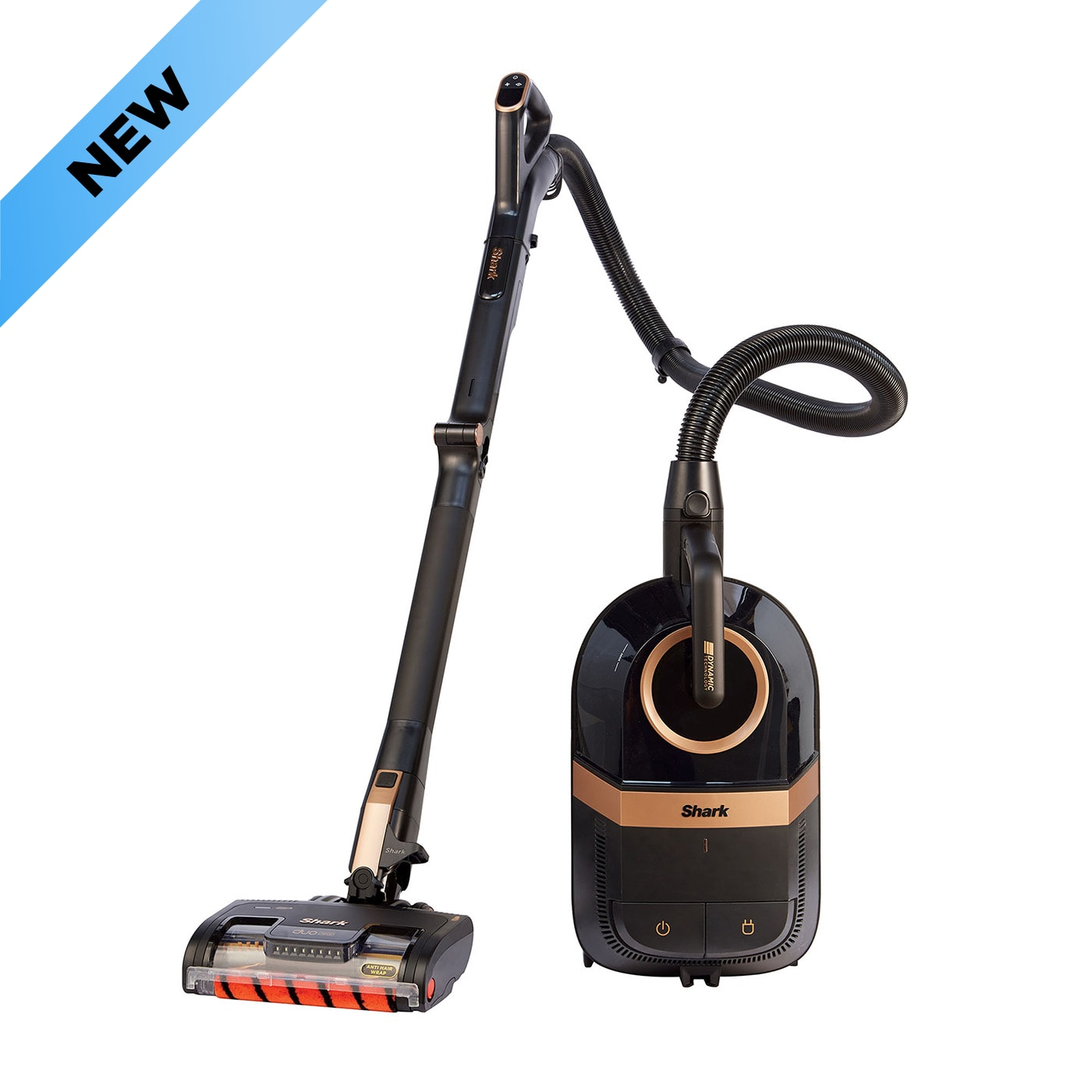 Shark Bagless Cylinder Vacuum Cleaner with Dynamic Technology, Anti Hair Wrap & DuoClean, Pet Model [CZ500UKT] product photo