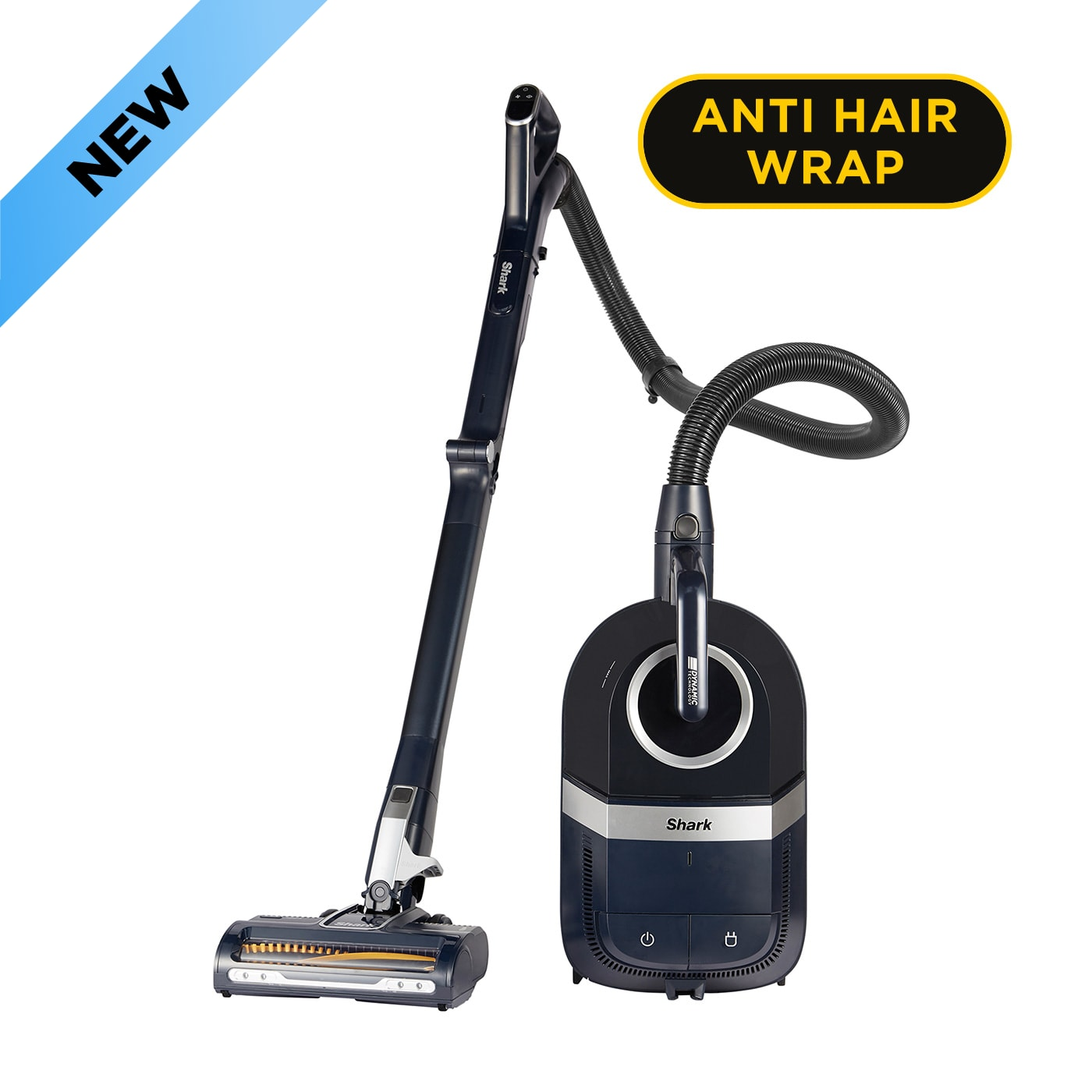 Shark Bagless Cylinder Vacuum Cleaner with Dynamic Technology & Anti Hair Wrap, Pet Model [CZ250UKT] product photo