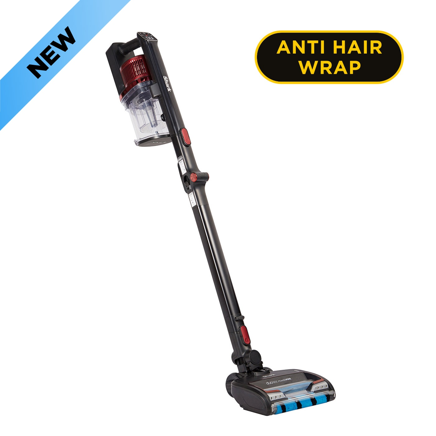Shark Anti Hair Wrap Cordless Stick Vacuum Cleaner with PowerFins, Flexology & TruePet [Single Battery] IZ300UKT product photo