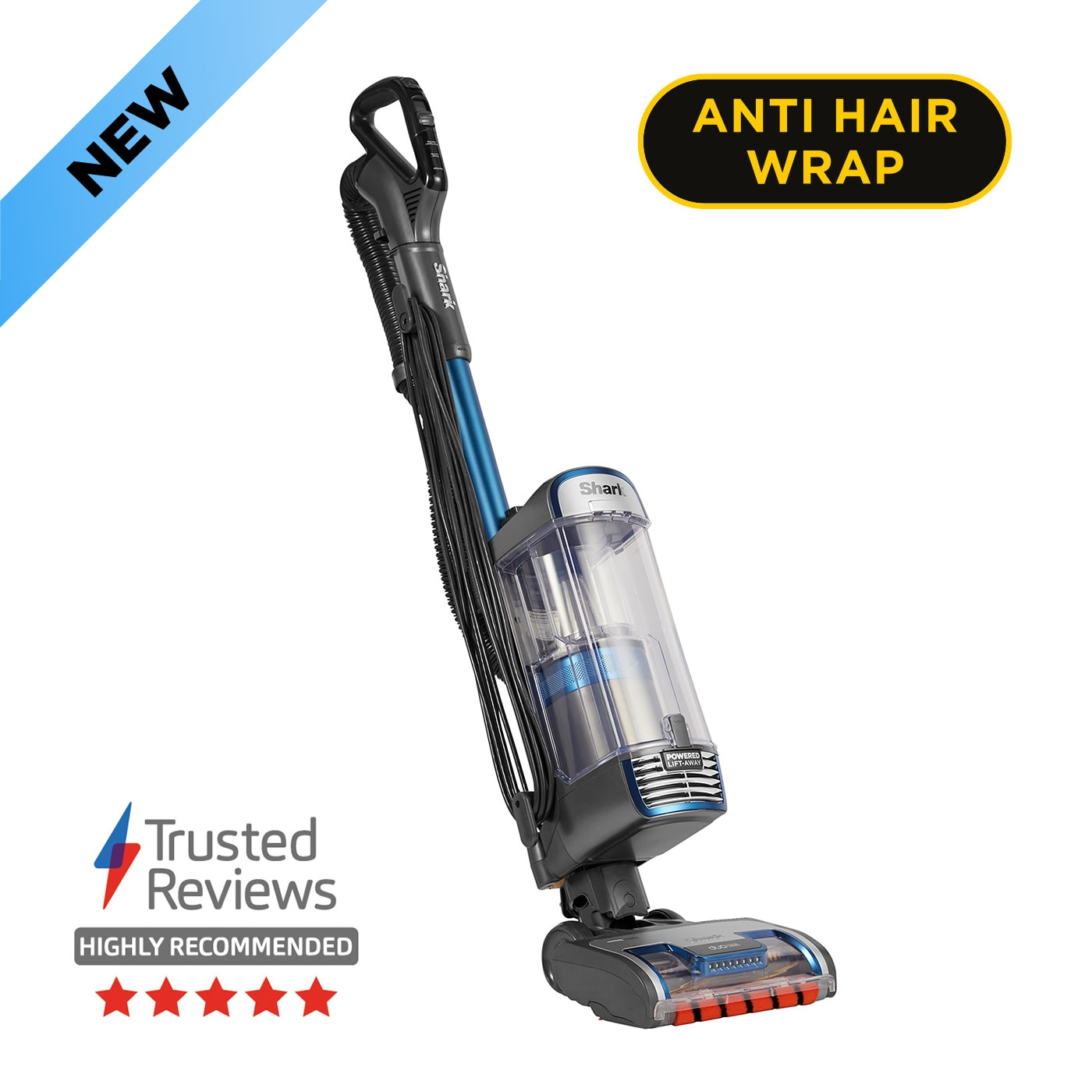 Shark Anti Hair Wrap Upright Vacuum Cleaner with Powered Lift-Away and TruePet NZ850UKT product photo