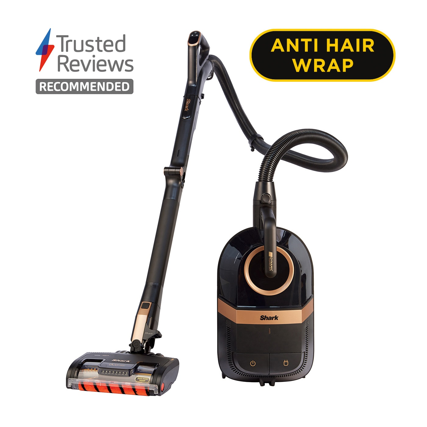 Shark Cylinder Pet Vacuum Cleaner with DuoClean and Anti Hair Wrap, Bagless CZ500UKT product photo
