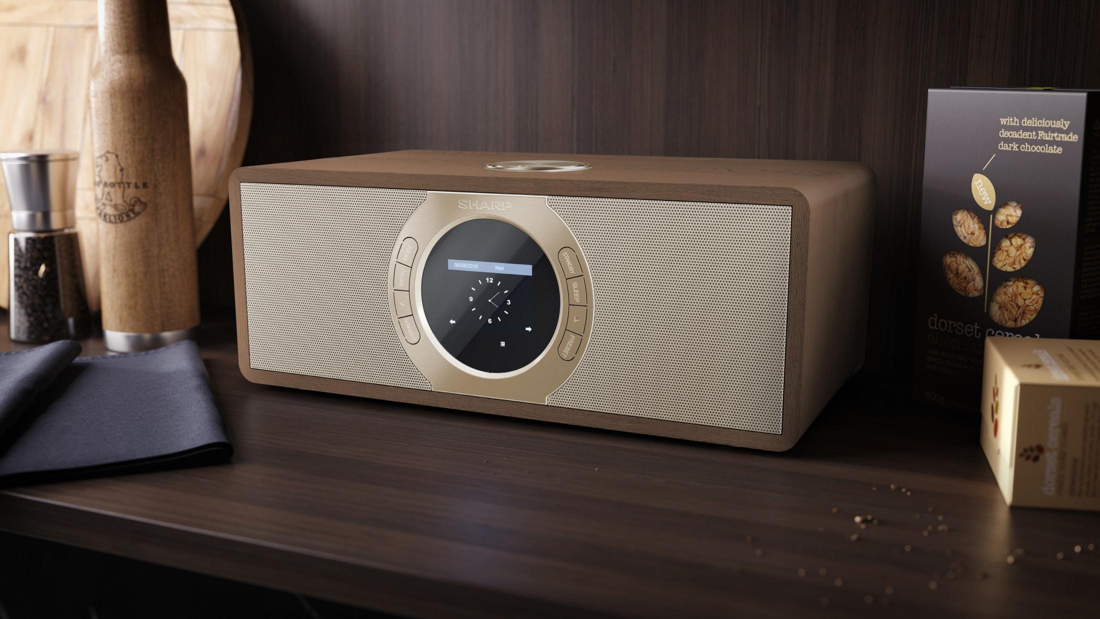 Stereo Internet-/Digitalradio DAB/DAB+/FM with RDS, 30 W, Bluetooth and 60 station memory.