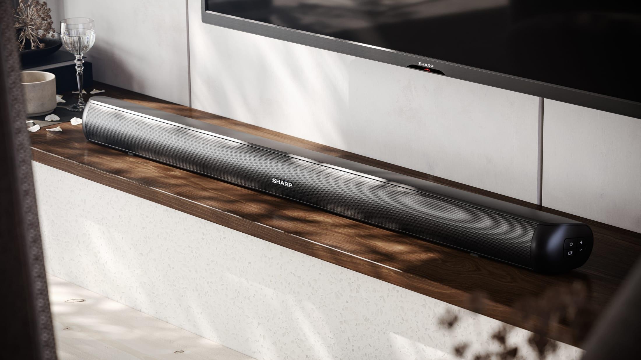 "Powerful Soundbar with LED segment display, for TVs 40"" and above"