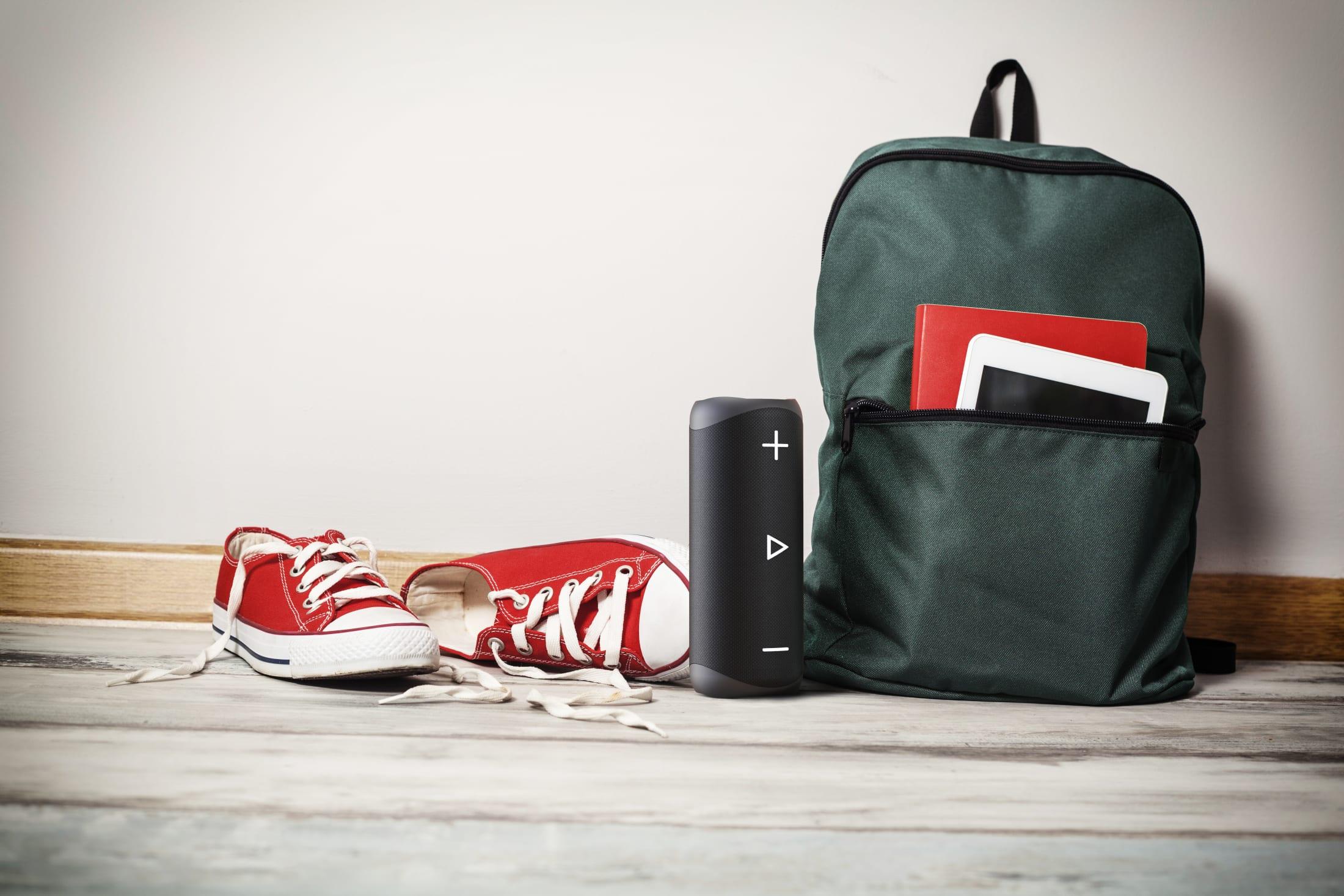 Przenośny bezprzewodowy głośnik stereo Bluetooth, 20 W, z zaawansowaną technologią DSP, 90 dB SPL, 12 godzin odtwarzania i klasa odporności IP 56.