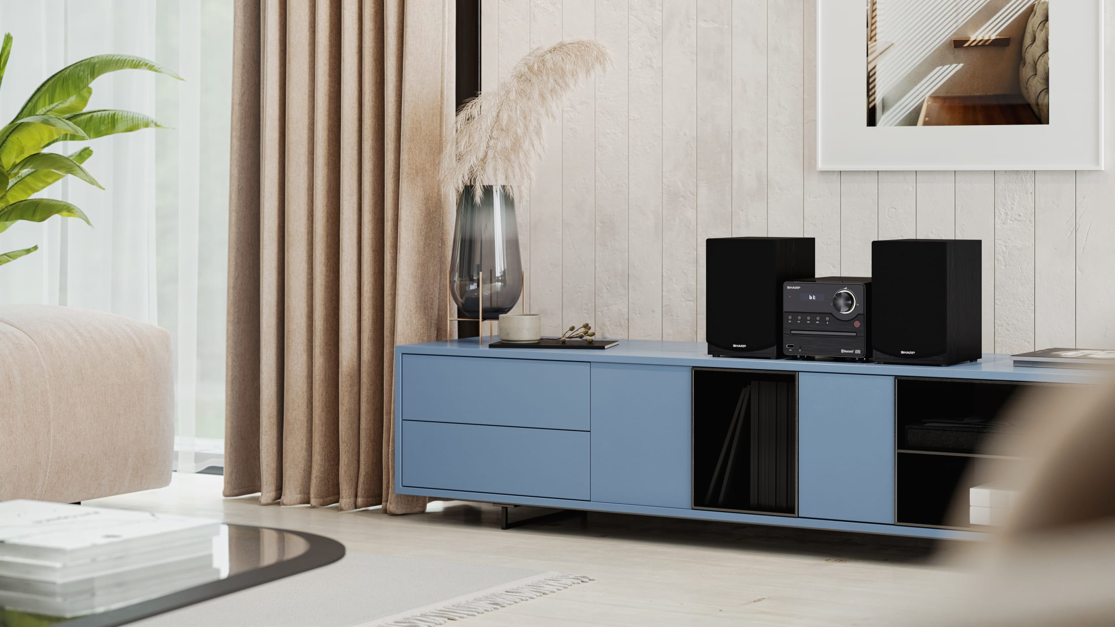 Hi-Fi Micro System with FM tuner and Bluetooth connectivity