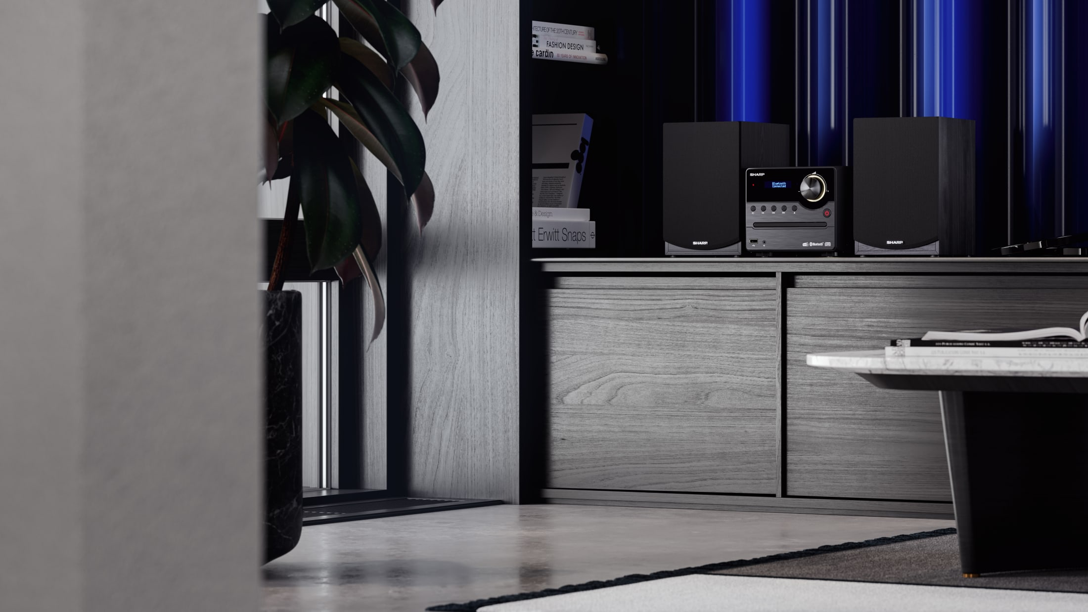 Hi-Fi Micro System with the latest DAB+ radio tuner and Bluetooth connectivity