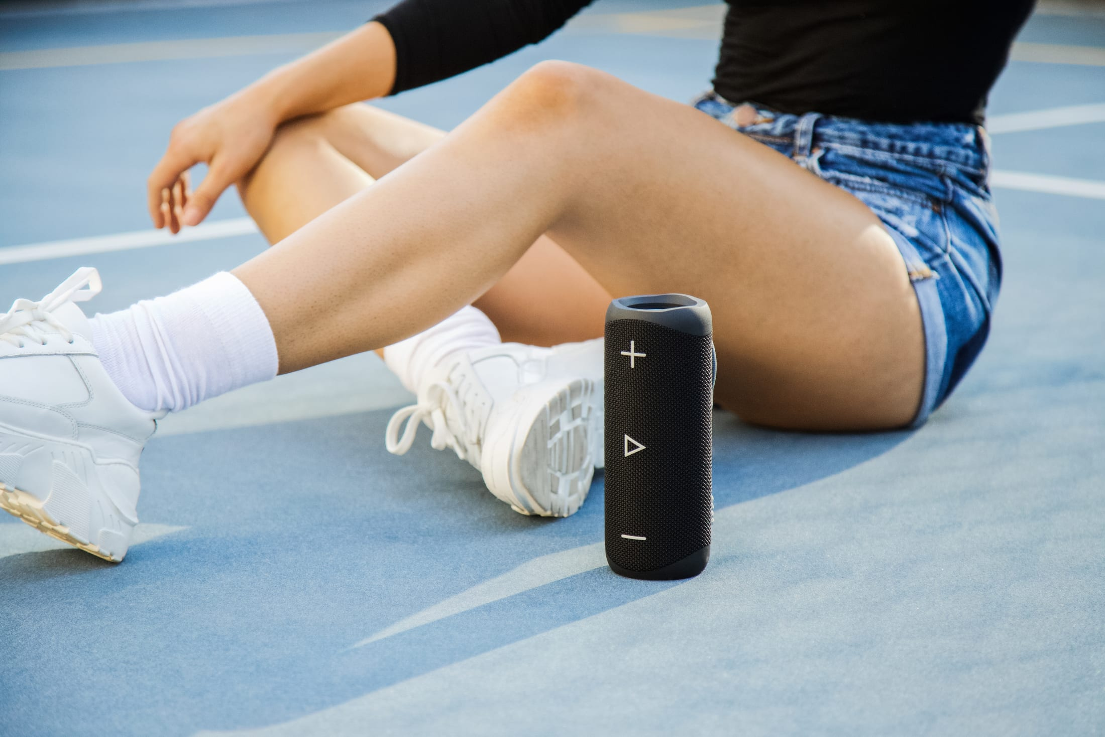 Portable Stereo Bluetooth Wireless Speaker, 20 W, with advance DSP technology, 90 dB SPL, 12 hours play time and IP 56 proof.
