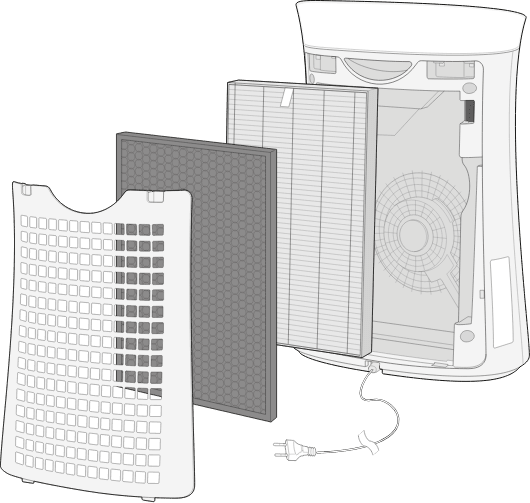 Up to 10 years of HEPA filter life
