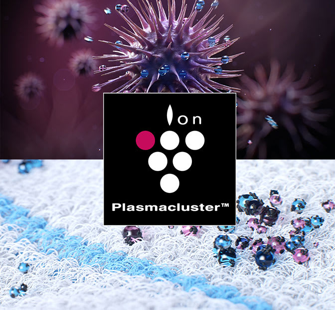 Plasmacluster reduces static electricity