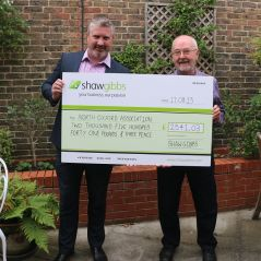 Shaw Gibbs raises over £2,500 for community charity - news article image