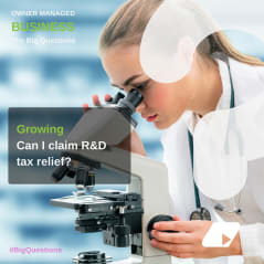Can I claim R&D tax relief? - news article image