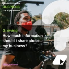 How much information should I share about my business? - news article image