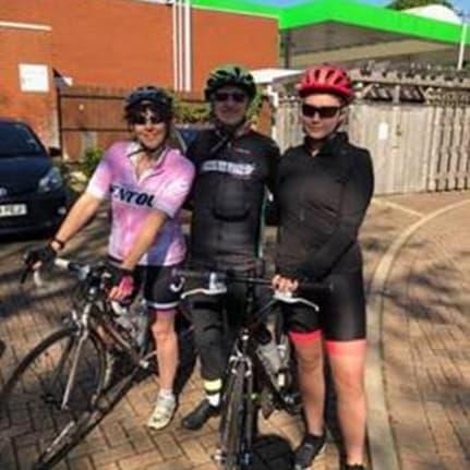 Karyn Jones braves the Langdon Velo Challenge alongside her father and daughter - news article image