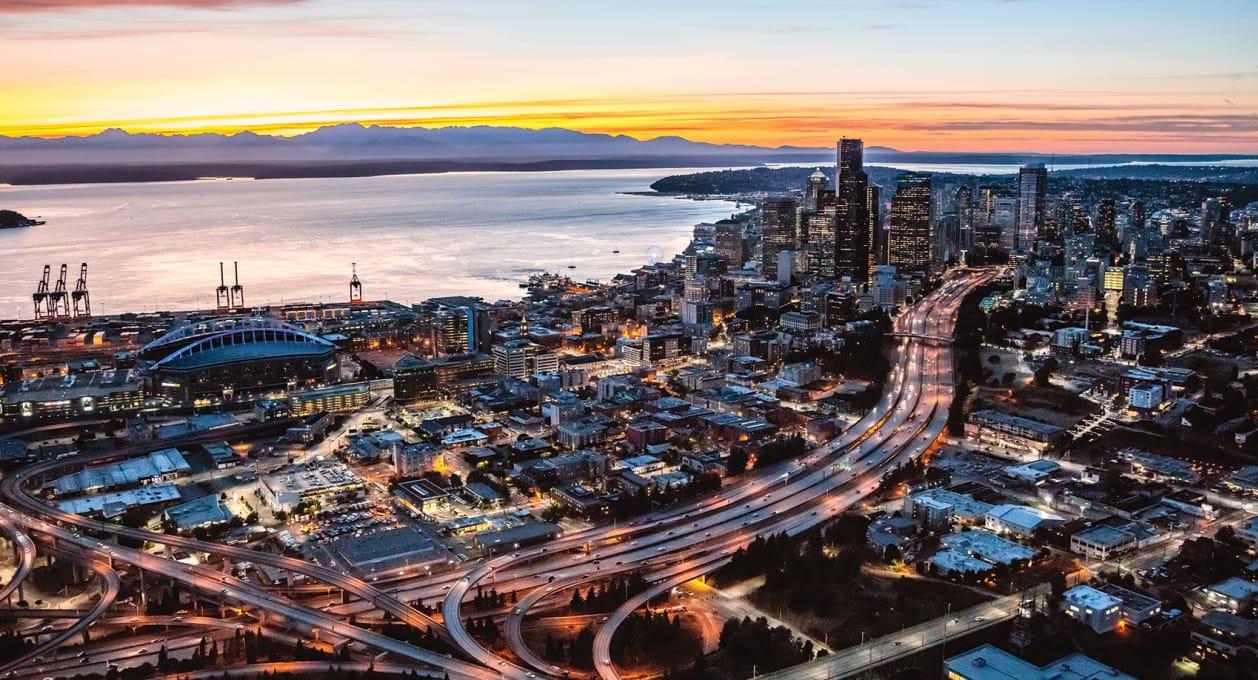 King County, Seattle, Washington, Skyline; EPA water infrastructure project