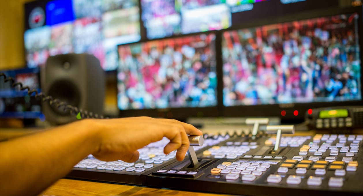 TV studio, telecommunications
