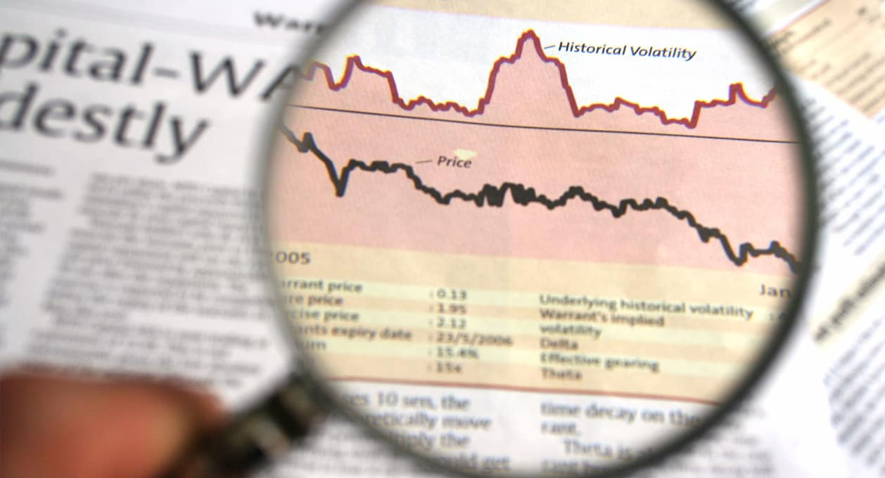 Financial Analysis, magnifying glass